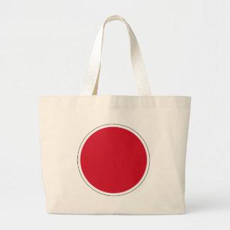 bandera de Nipón Roundel del 航空自衛隊の国籍マーク de JASDF Bolsa De Tela Grande