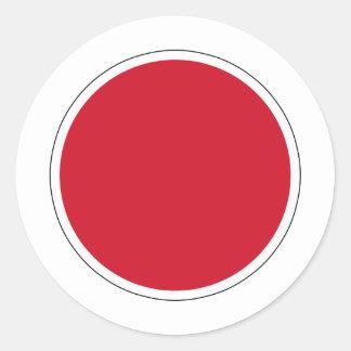 bandera de Nipón Roundel del 航空自衛隊の国籍マーク de JASDF Pegatina Redonda