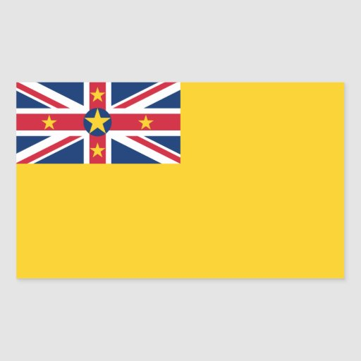 Bandera de Niue Pegatina Rectangular