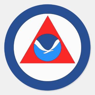 Bandera de NOAA Pegatina Redonda