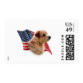 Bandera de Norfolk Terrier Estampilla