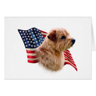 Bandera de Norfolk Terrier Felicitación