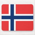 Bandera de Noruega Alfombrillas De Raton