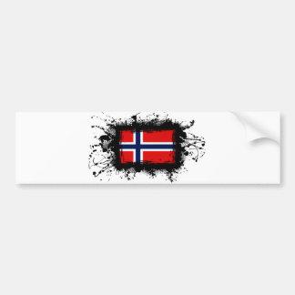 Bandera de Noruega Pegatina De Parachoque