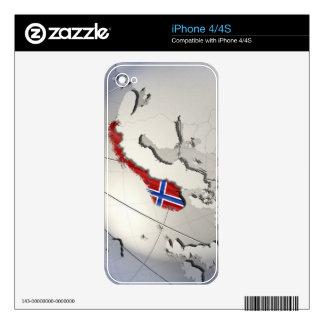 Bandera de Noruega Calcomanías Para iPhone 4S