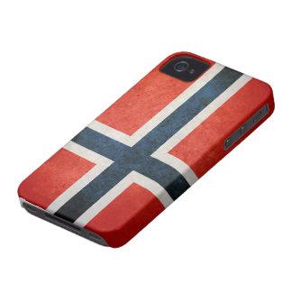 Bandera de Noruega Case-Mate iPhone 4 Fundas