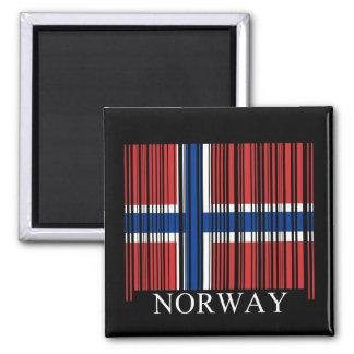 Bandera de Noruega del código de barras Imanes