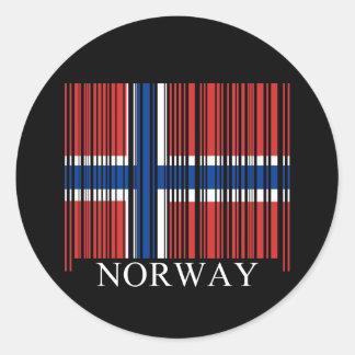 Bandera de Noruega del código de barras Pegatinas