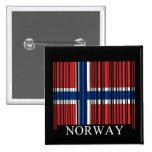 Bandera de Noruega del código de barras Pin