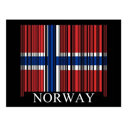 Bandera de Noruega del código de barras Postal