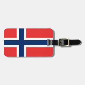 Bandera de Noruega Etiqueta Para Equipaje
