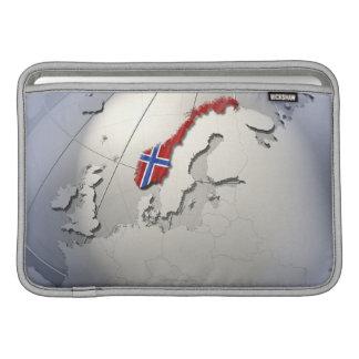 Bandera de Noruega Fundas MacBook