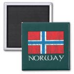 Bandera de Noruega Iman Para Frigorífico