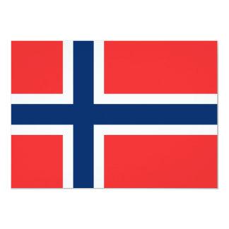 Bandera de Noruega Invitación 12,7 X 17,8 Cm