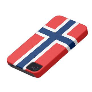 Bandera de Noruega iPhone 4 Case-Mate Carcasa
