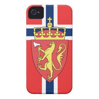 Bandera de Noruega iPhone 4 Case-Mate Funda