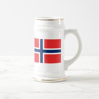 Bandera de Noruega Jarra De Cerveza