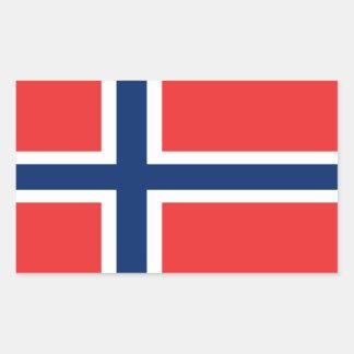 Bandera de Noruega Pegatina Rectangular