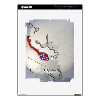 Bandera de Noruega Pegatina Skin Para iPad 3