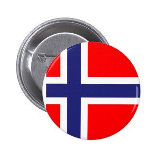 Bandera de Noruega Pin Redondo De 2 Pulgadas