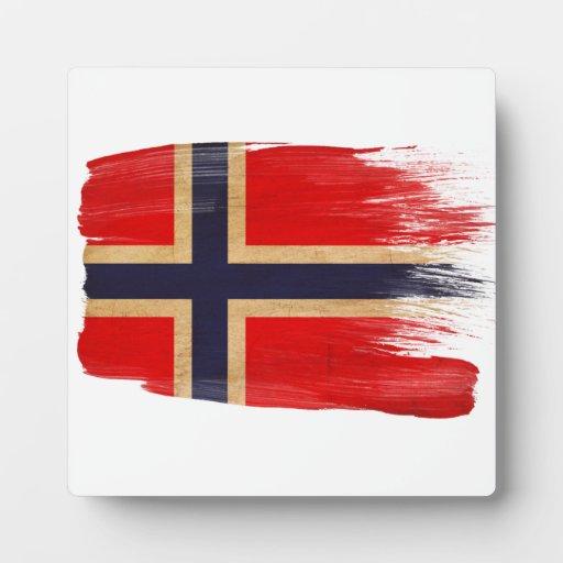 Bandera de Noruega Placa De Madera