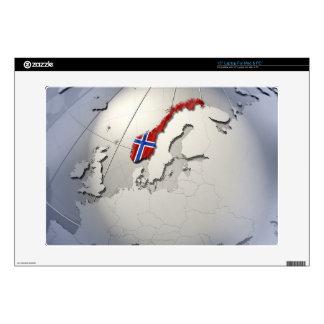 Bandera de Noruega Portátil 38,1cm Skin