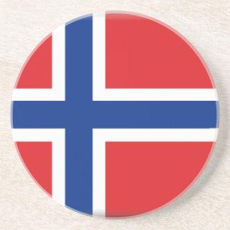 Bandera de Noruega Posavasos Cerveza