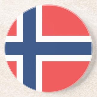 Bandera de Noruega Posavasos Para Bebidas
