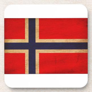 Bandera de Noruega Posavasos De Bebidas