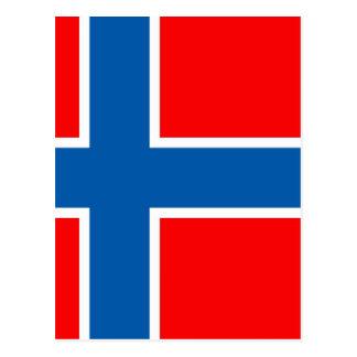 Bandera de Noruega Postales