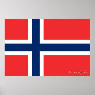 Bandera de Noruega Póster
