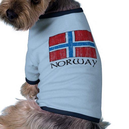Bandera de Noruega Ropa Macota