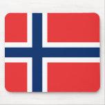 Bandera de Noruega Tapete De Ratones