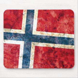 Bandera de Noruega Tapetes De Ratón