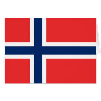 Bandera de Noruega Tarjeta De Felicitación