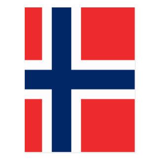 Bandera de Noruega Tarjeta Postal