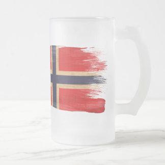 Bandera de Noruega Taza De Cristal