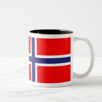 Bandera de Noruega Taza De Dos Tonos