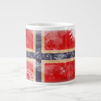 Bandera de Noruega Taza Grande