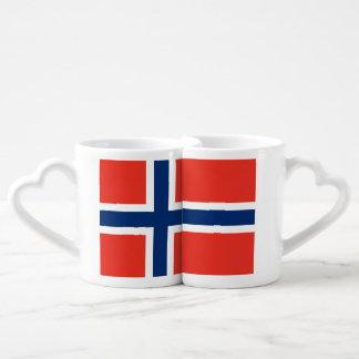 Bandera de Noruega Taza Para Enamorados