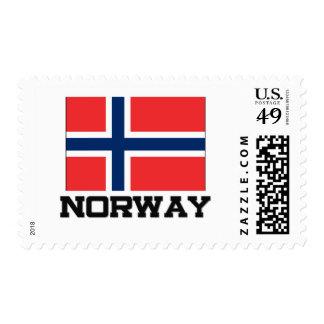 Bandera de Noruega Timbres Postales
