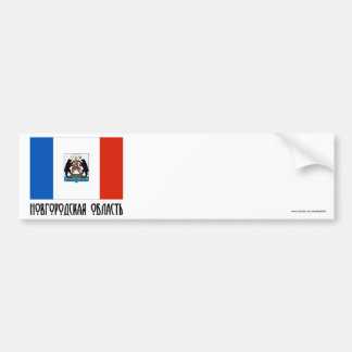 Bandera de Novgorod Oblast Etiqueta De Parachoque