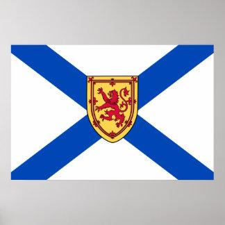 Bandera de Nueva Escocia (3 históricos por el coef Poster