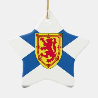 Bandera de Nueva Escocia (Canadá) Adorno De Navidad