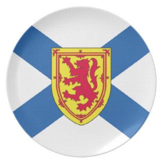 Bandera de Nueva Escocia (Canadá) Plato De Comida