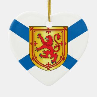 Bandera de Nueva Escocia Adorno De Cerámica En Forma De Corazón