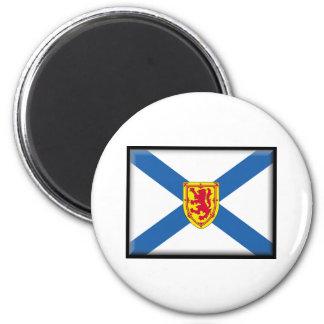 Bandera de Nueva Escocia Imán Redondo 5 Cm