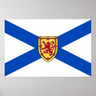 Bandera de Nueva Escocia Poster