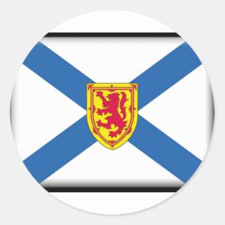 Bandera de Nueva Escocia Etiquetas Redondas