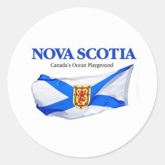 Bandera de Nueva Escocia Pegatina Redonda